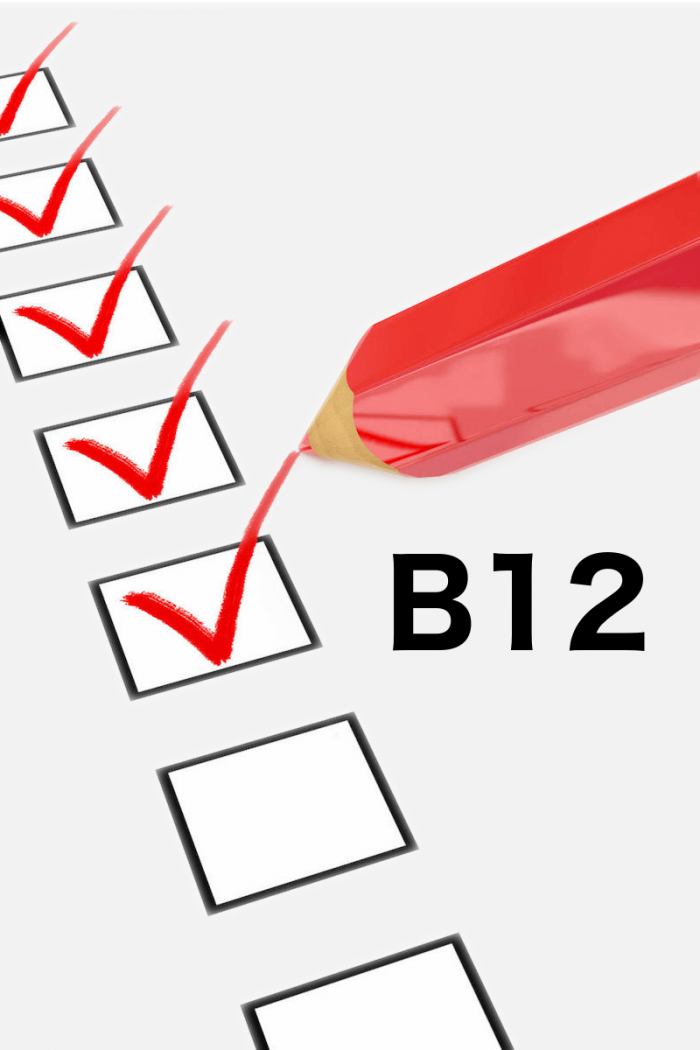 vitamine B12 vragenlijst