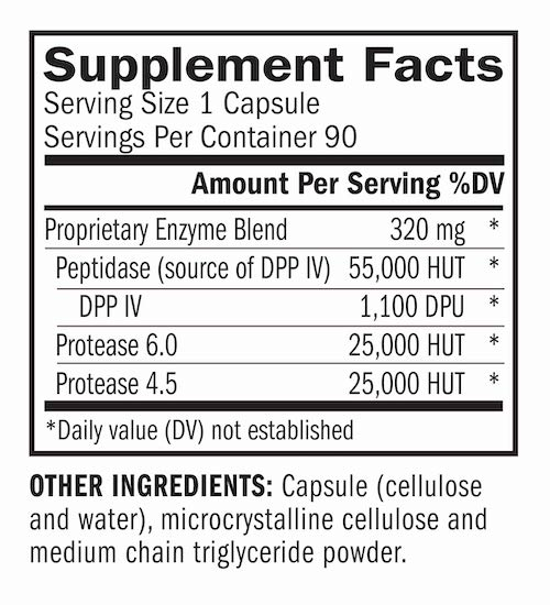 AFP Peptizyde Houston Enzymes Supplement facts
